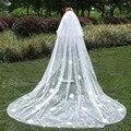 New Elegant Three-Layer Bridal Veils Cut Edge Appliques Handmade Flowers With Bob Grace White Wedding Veil