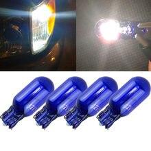 10 pçs t10 w5w 194 168 501 cunha halogênio bulbo 12 v 5 w branco para o lado do carro fabricante lâmpada de luz