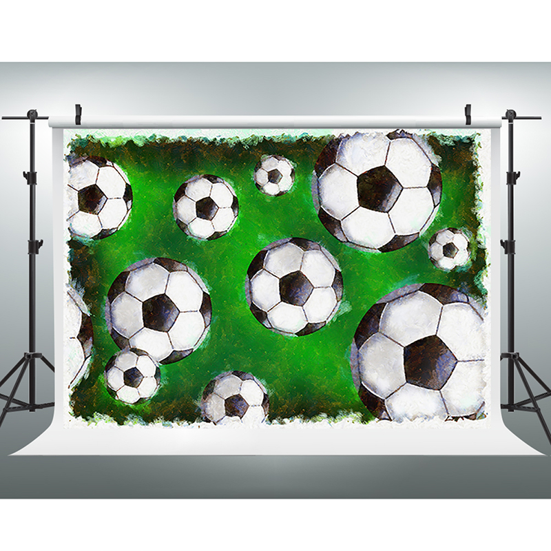 Children Photography Backdrops Cartoon Football Party Photo Backdrops Fantasy Stadium Newborn Backdrops for Photographic Studio