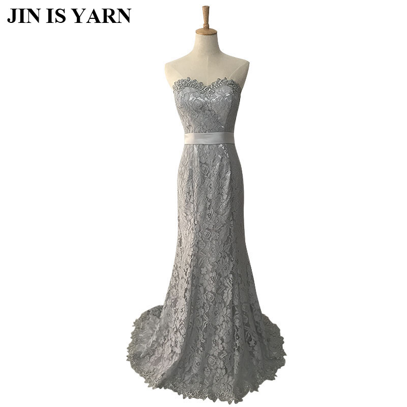 The new trend of high end lace fishtail Slim Sexy Bra paragraph Qi dress