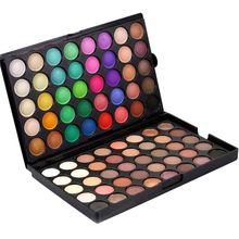 1pcs Women Glitter Eyes Palette Color Cosmetics Waterproof Shimmer 80 Color Glitter Nude New Eyeshadow Palette xgrj