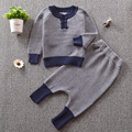 Ins hot baby boy clothes set knitted cotton long-sleeved Sweatshirts+ pants infant clothes 2pcs suit boys girls clothing sets
