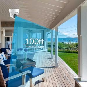 Image 4 - ANNKE système de vidéosurveillance 4CH 1080P Lite, Kit DVR 1080P, 4 pièces, caméras de sécurité dextérieur, 2.0mp, système de vidéosurveillance nocturne infrarouge