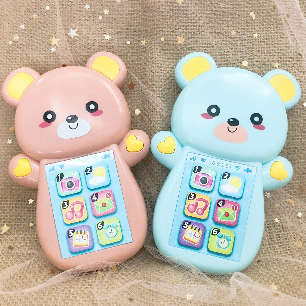 Toy Phone for Kids Singing Musical Telephone Child 0-12 Month Play Mobile Baby Crying Smartphone Boy Girl Infant Early Education