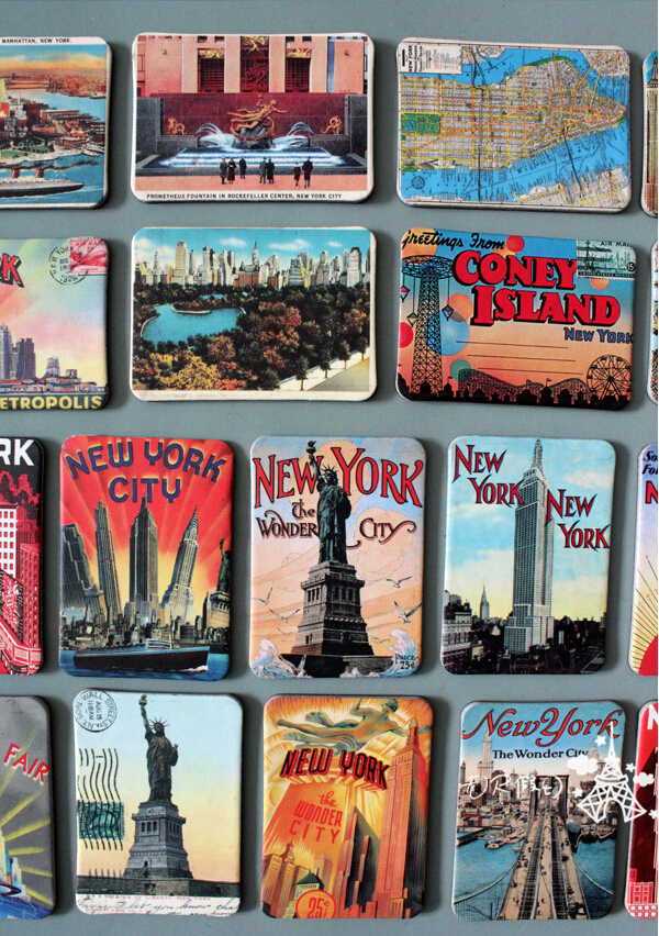 24Pcs/Lot Rubber Fridge Magnet New York Refrigerator Fridge Magnets Sets Souvenir Statue of Liberty Magnetic Stickers Home Decor image