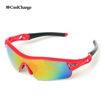 2018 Hot CoolChange professionnel lunettes de cyclisme unisexe Sport vélo route Sports de plein air vélo lunettes accessoires lunettes