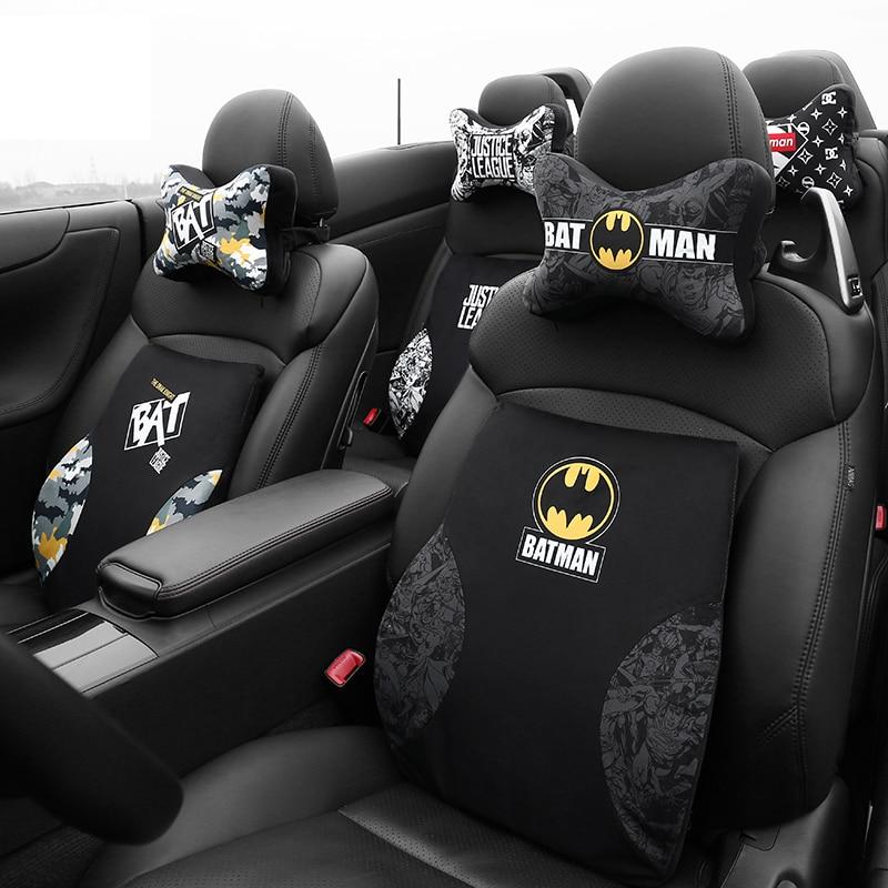 Cartoon Marvel Super Hero Car Seats Headrests Pillows Memory Foam For The Neck Batman Lumbar Support Waist Cushion Home Office