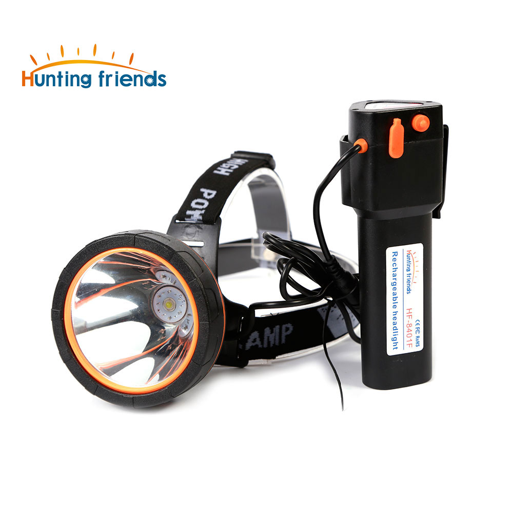 Hunting Friends High Power LED Headlamp Rechargeable Head Flashlight Waterproof Flashlight Forehead For Fishing Hunting Camping
