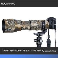 Линзы rolanpro камуфляж пальто дождевик для SIGMA 150-600 мм F5-6.3 DG OS HSM современный (AF версия) пистолеты защитный рукав