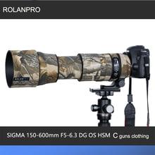 ROLANPRO Objektiv Camouflage Mantel Regen Abdeckung für SIGMA 150 600mm F5 6.3 DG OS HSM Zeitgenössische (AF Version) pistolen Schutzhülle