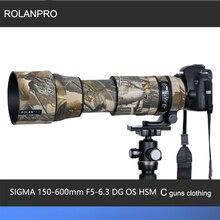 Камуфляжный чехол для объектива ROLANPRO, дождевик для SIGMA 150 600 мм, F5 6.3 DG OS HSM, Современная (версия AF), защитный чехол для оружия