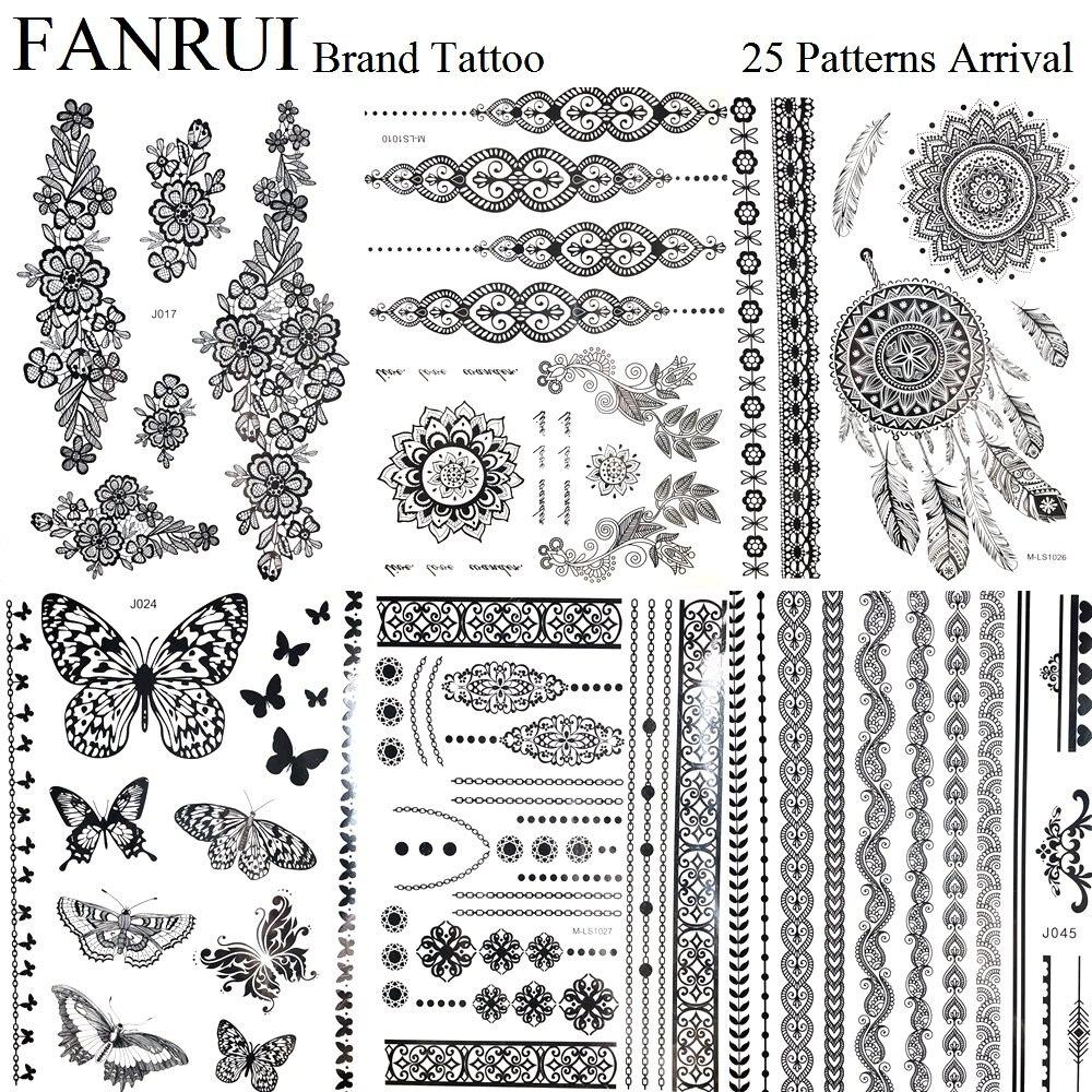 Henna Lace Bracelet Temporary Tattoo Sticker: Aliexpress.com : Buy Indian Chains Black Henna Mandala