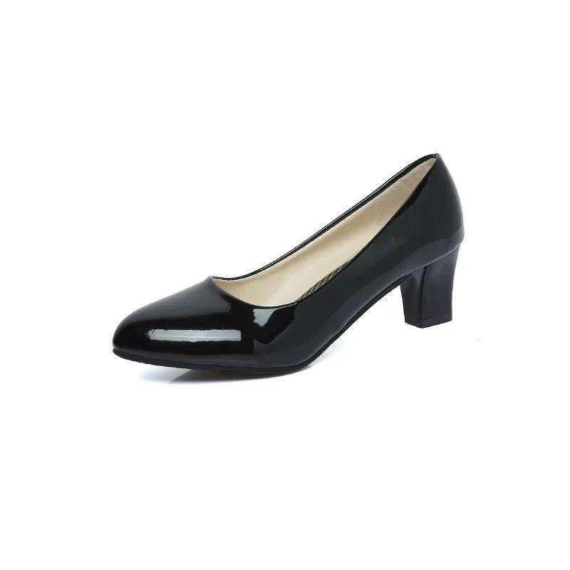 11cd1a36 Redondas De Lwo Tacones Zapatillas 3 Zapatos 1 Bajas Altos Mujer 4 Gatito  Para Delgados Italianos Cuero Negros Tacón ...