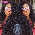 Natural Preto Brasileiro Profunda Curly Virgem Cabelo Encaracolado Brasileira Extensões de Cabelo 8-30 Polegadas 5 Pacotes De Virgem Brasileira cabelo