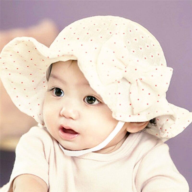Bayi Topi Matahari Topi Musim Panas Balita Bayi Ikatan Simpul Floral  Dicetak Outdoor Topi Bayi untuk dd67dd4169