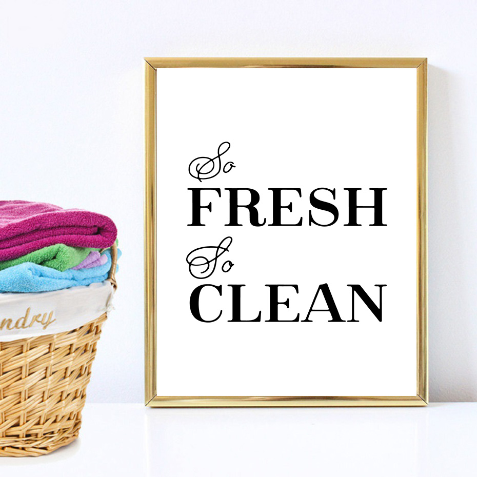 Laundry Room Decorative Posters Prints Modern Clean Quotes Canvas Painting For Bathroom Home Decor Wall Art Pictures Family Gift (5)