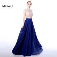 Menoqo Real Model A Line Chiffon Top Lace Pearls Bodice Vestido De Vesta 2017 Women Pageant