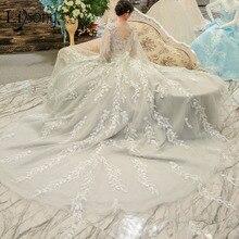 Lisong Luxury 2018 Light Gray Wedding Dresses Empire