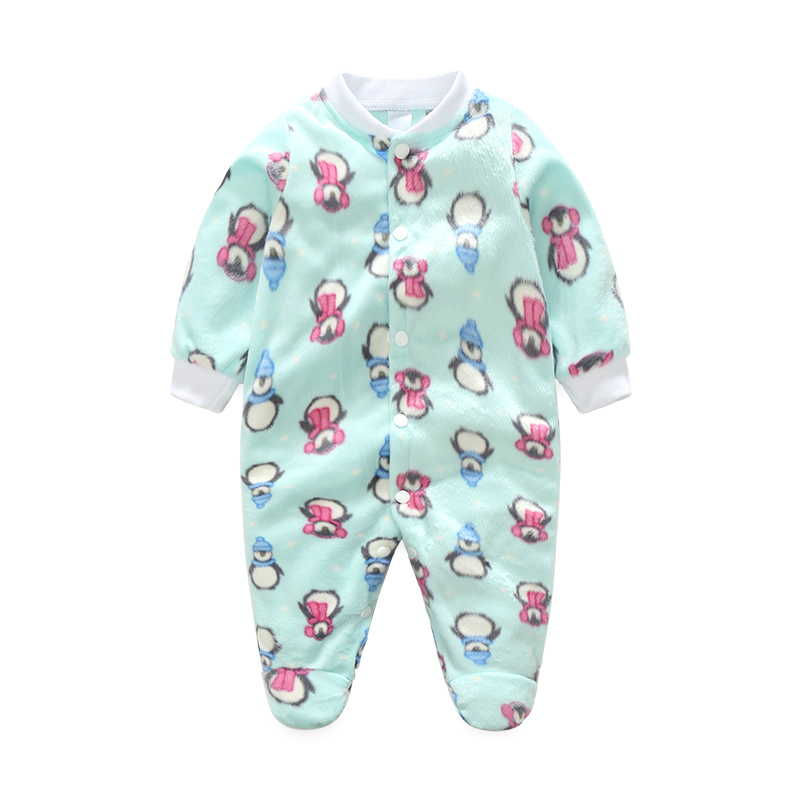 Autumn Winter New Cute Animal Pretty Newborn Baby Rompers Boys Girls Long Jumpsuit Comfortable Fleece Crawling Coverall Clothing newborn baby rompers baby clothing 100% cotton infant jumpsuit ropa bebe long sleeve girl boys rompers costumes baby romper