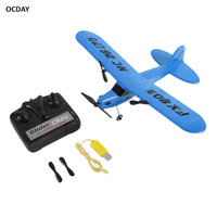 OCDAY FX803 Remote Control RC Plane Glider Aerodone Toy Children Audult 150m Foam Airplane Red Blue Battery Drones New arrival