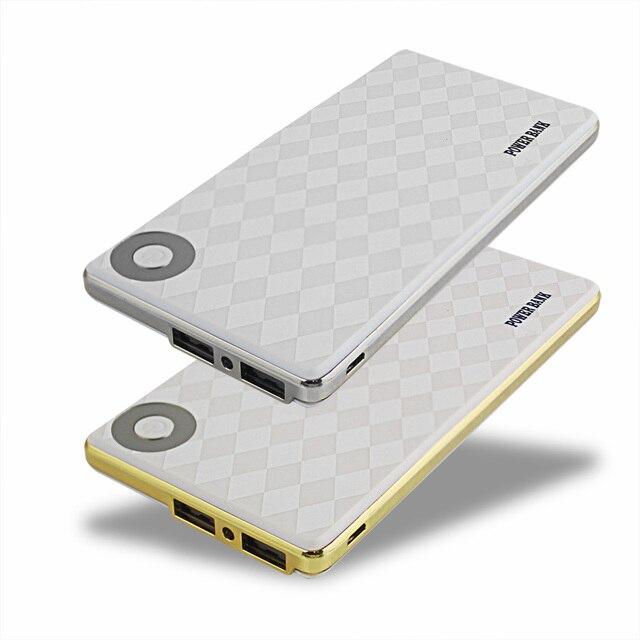Мобильный Банк Питания 10000 мАч Dual USB Внешний Аккумулятор Литий-Полимерный Аккумулятор Зарядное Устройство powerbank с 1 м телефонный кабель для xiaomi