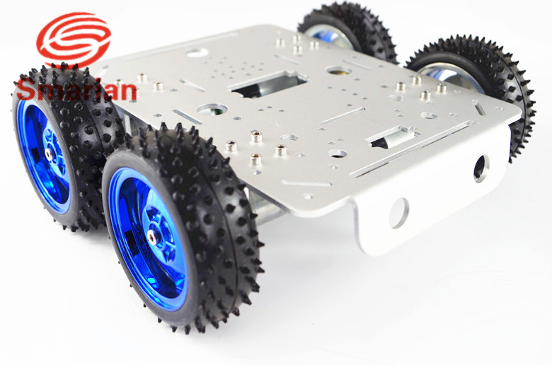 Official smarian C300  C300 Metal 4wd Wheel Car Chassis for Esp8266 Development kit Remote Control Diy Wheeled Robotic Car Chas