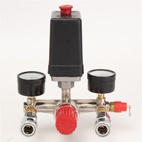NEW Air Compressor Pressure Control Switch Valve Manifold Regulator W/Gauges Relief Auto Control Auto load/unload