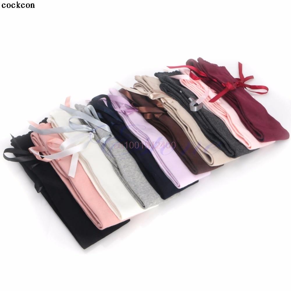 Women Ribbon Bow Boot Socks Thigh-High Over Knee Thigh High Long Socks