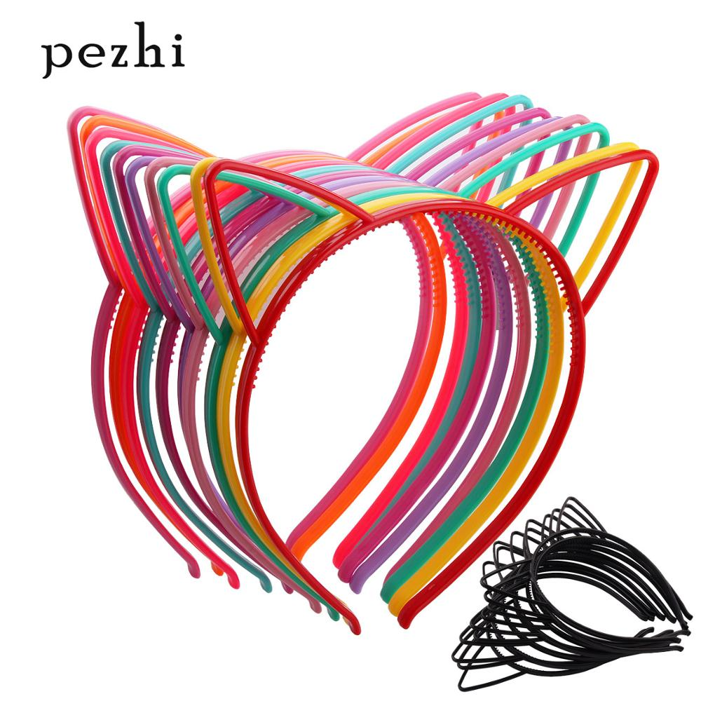 8PCS cat ears Headband boy girl children Hair Hoop lovely baby hairband Party Supplies Accessories   Headwear  (Multi color)