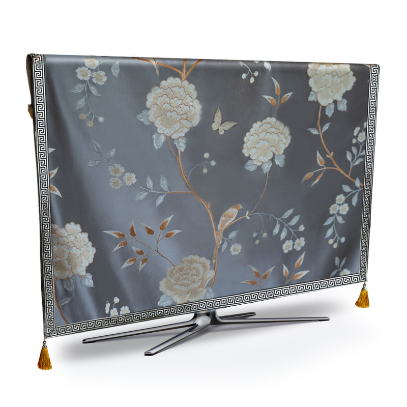 Tv Dust Cover Luxury Flower Weatherproof Dust Proof Protect Lcd Led Plasma Television Tissue Table Runner Cloth Cushion Cover Tv Covers Aliexpress
