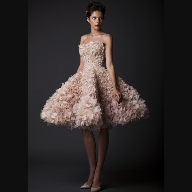 Hermosa corto Vestido de quinceañera 2016 Vestido de 15 nos dulce 16 vestidos sin tirantes totalmente Floral plisado Girls Debutante Vestido