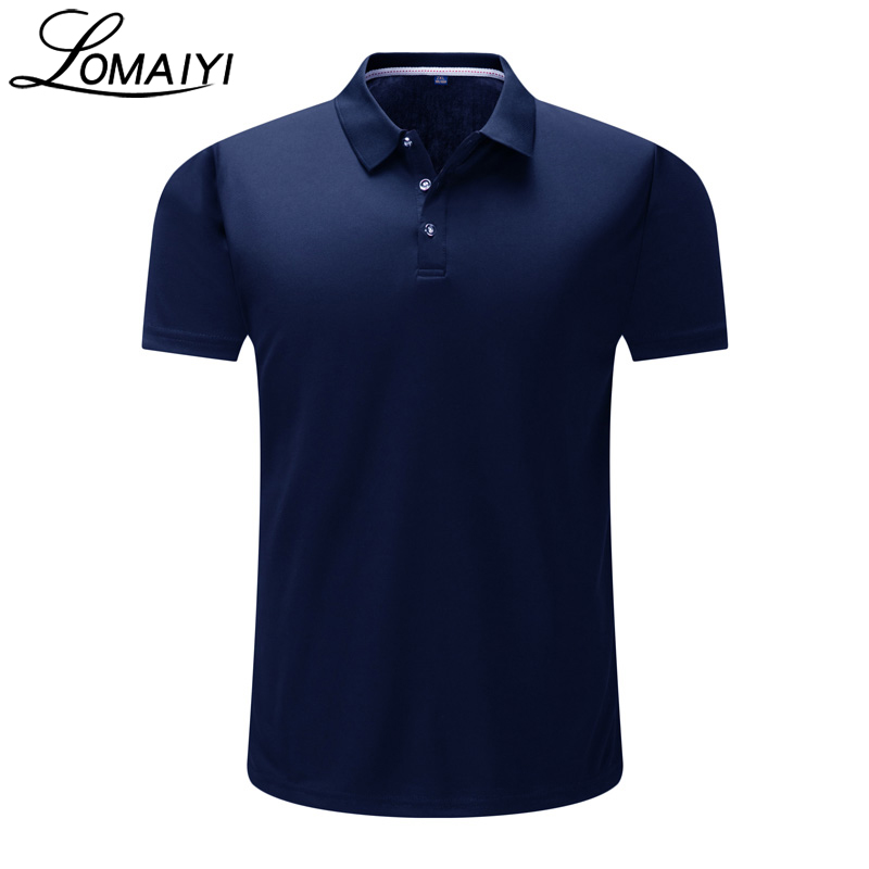LOMAIYI Men's Fashion Short Sleeve Polo Shirt Men Stretch Quick Dry Polos 2018 Summer Business Casual Mens Clothing,AM225