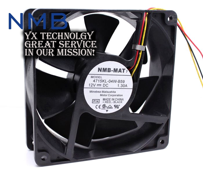 NMB New 4715KL-04W-B59 12038 12cm speed 1.3A dual ball bearing computer cooling fan for nmb maurini maurini m280 4ln