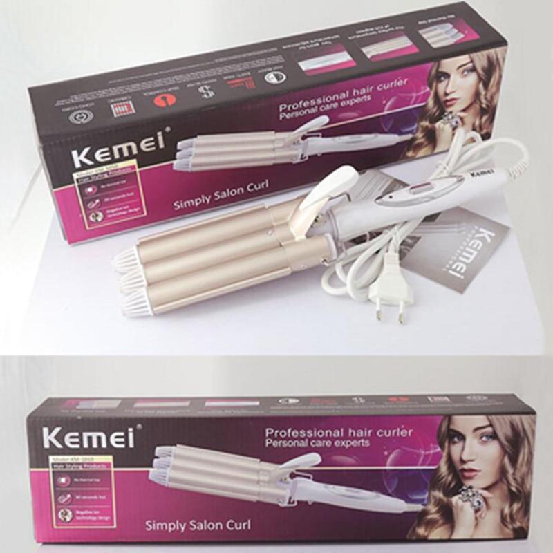 3 Barrel Clamp Hair Curlers Rollers Adjustable Hair Curling Irons