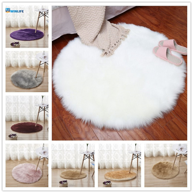 New Soft Artificial Sheepskin Rug Chair Cover Bedroom Mat Artificial Wool Warm Hairy Carpet Seat Wool Warm Textil Fur Area Rugs