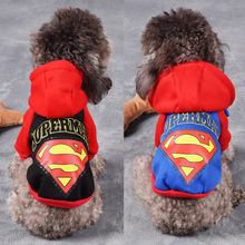 New Pet Cat Dog Coat Superhero Costume Superman Puppy Hoodie Small Clothes Winter Supplies