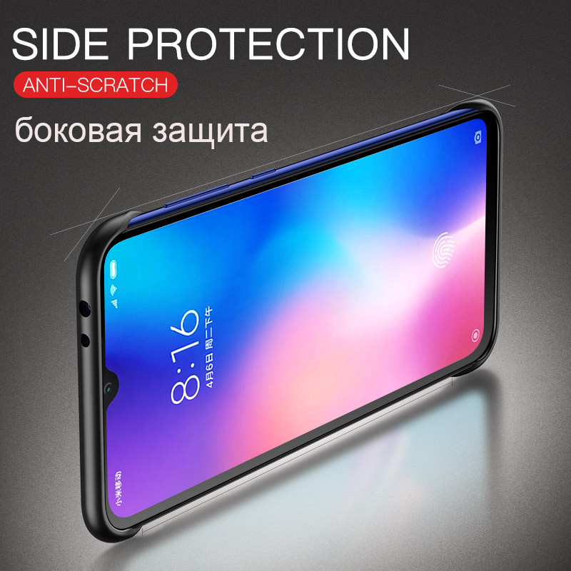 Light Slim Transparent Phone Case for Huawei P20 P30 Pro Mate 20 Pro Mate 20X Frameless Ring Luxury Matte Case Cover in Fitted Cases from Cellphones Telecommunications