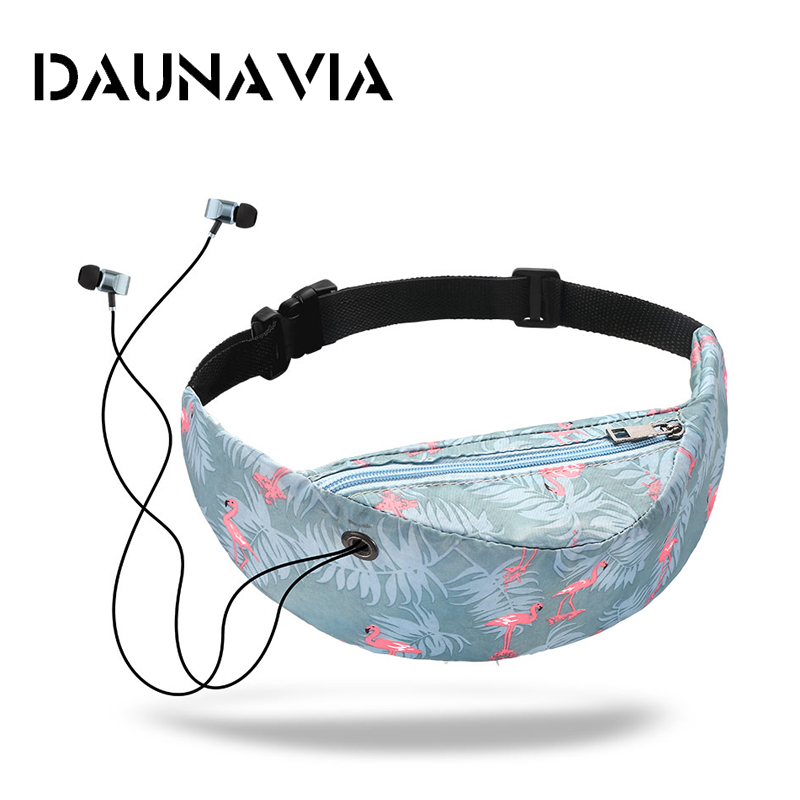 DAUNAVIA Brand 2018 new colorful waist bag waterproof Travelling Fanny Pack Mobile Phone Waist Pack for women designer Belt bag new 3d colorful waist pack for men fanny pack style bum bag unicorn women money belt travelling mobile phone bag