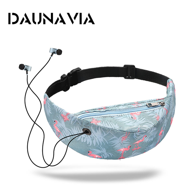 DAUNAVIA Brand 2019 new colorful waist bag waterproof Travelling Fanny Pack Mobile Phone Waist Pack for women designer Belt bag
