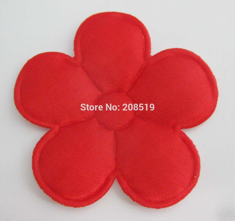 PANVGG 47 мм Цветочные аппликации 12 видов цветов DIY Скрапбукинг Цветочные нашивки 120 шт. головные уборы цветочный орнамент войлочный - Цвет: red 47mm