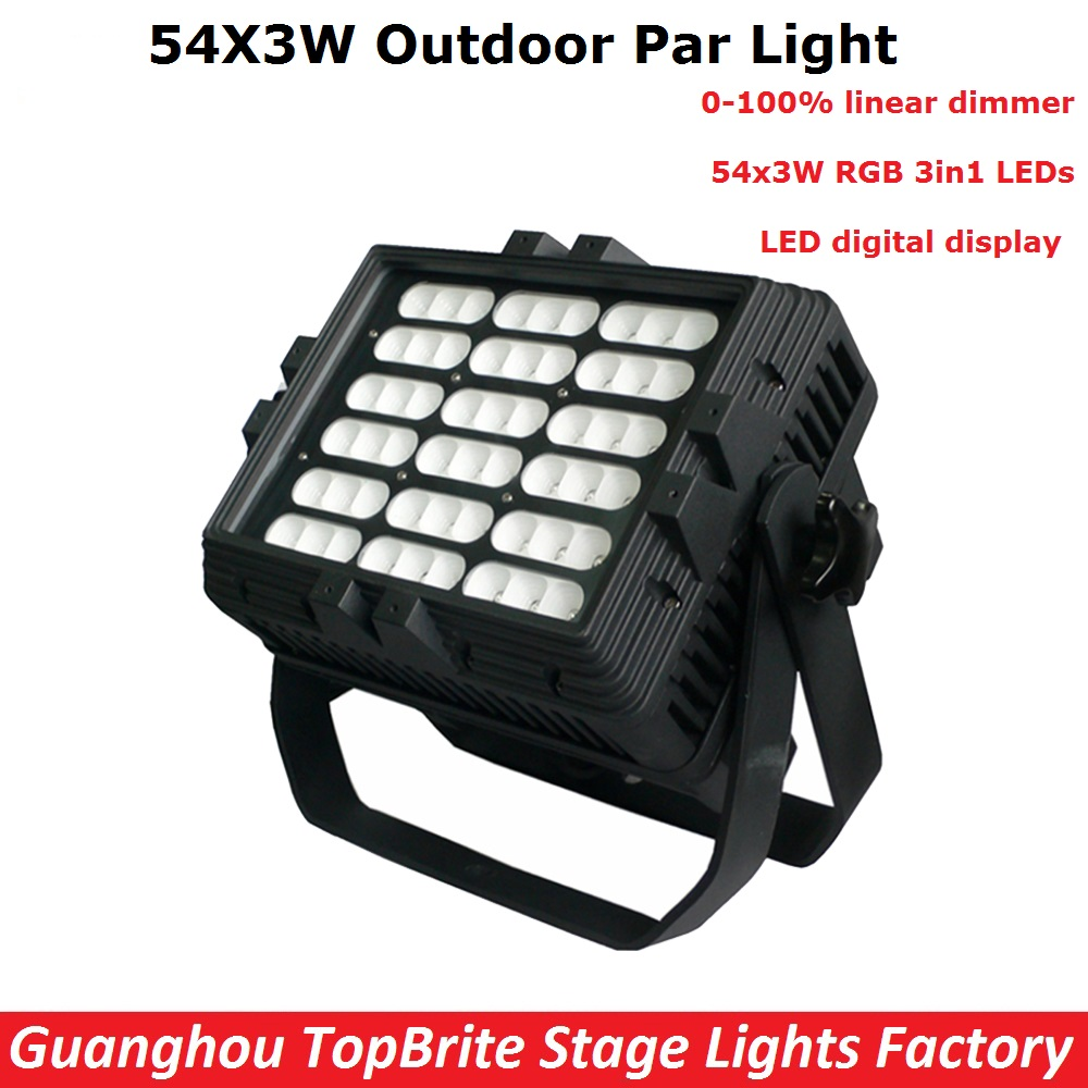 Newest Outdoor 54X3W RGB Full Color LED Par Light IP65 DMX Waterproof Par Cans Professional Stage Lighting Dj Disco Party Lights 54 3w full color stage par light bar light stain light wedding performance lighting