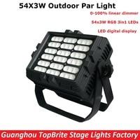 Newest Outdoor 54X3W RGB Full Color LED Par Light IP65 DMX Waterproof Par Cans Professional Stage Lighting Dj Disco Party Lights