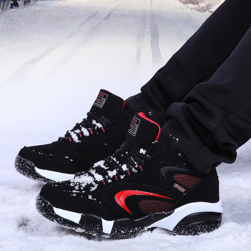 NEW outdoor sports shoes men and Women plush warm winter snow boots sneakers men Running Shoes Men and Women size36-45