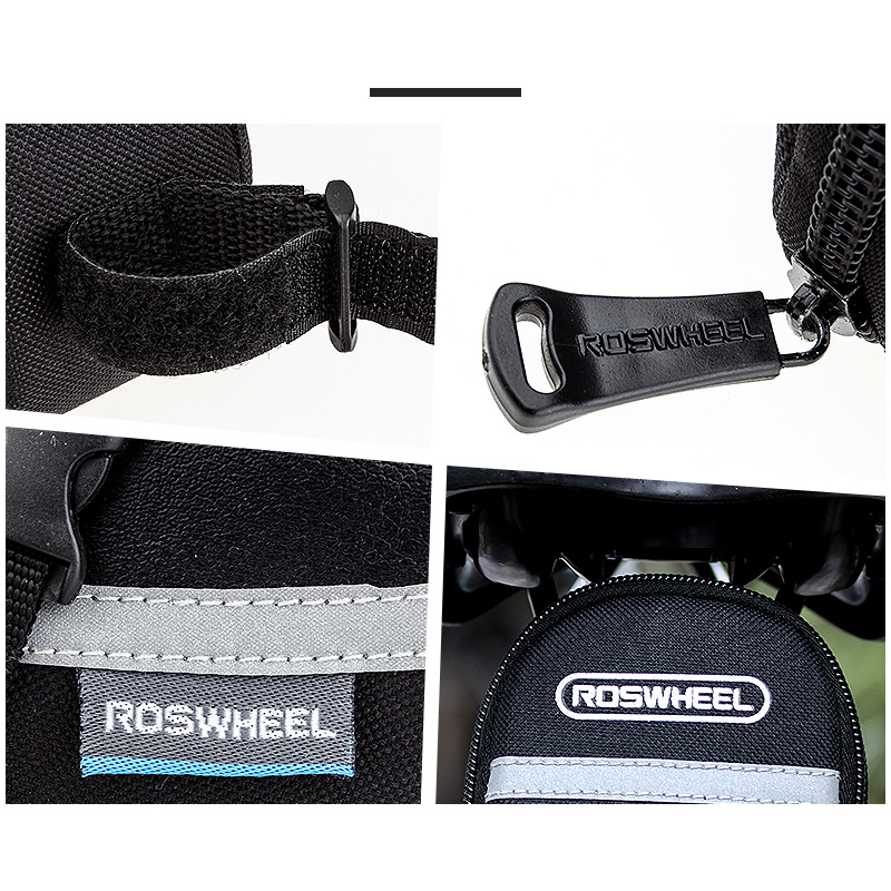ROSWHEEL 1.2L Portable Waterproof Bike Saddle Bag Cycling Seat Pouch Bicycle Tail bags Rear Pannier Cycling equipment 3
