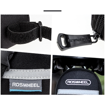 ROSWHEEL 1.2L Portable Waterproof Bike Saddle Bag Cycling Seat Pouch Bicycle Tail bags Rear Pannier Cycling equipment 8
