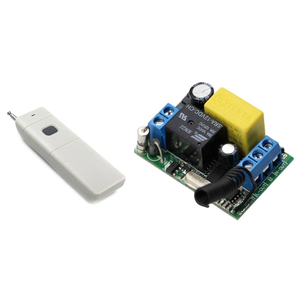 AC 220V Wireless Remote Control Switch 1CH 10A Relay Radio Light Switch Remote Control ON/OFF Receiver Long Range Transmitter 220v ac 10a relay receiver transmitter light lamp led remote control switch power wireless on off key switch lock unlock 315433