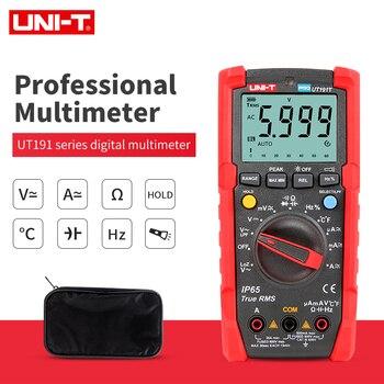 Multímetro Digital UNI-T UT191E/UT191T calidad militar IP65 impermeable NCV Ture RMS 6000 countcapacitancia frecuencia temperatura