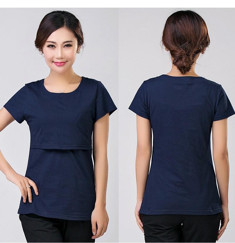 2016 lato macierzyństwo pielęgniarstwa ubrania kobiet w ciąży karmienie piersią karmienie piersią nakrywa trójniki t-shirt maxi premama nosić clothing 1
