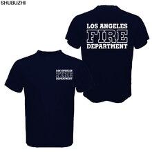 Лос-Анжелес пожарный отдел футболка для мужчин поиск и спасение Сан-Андрюс фильм Повседневная хлопок футболка лето европейский размер