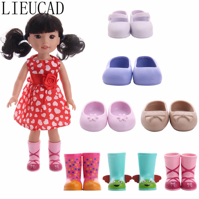 """For 14/"""" Wellie Wishers Doll Lime Green Shoes American Girl Accessories Clothes"""